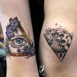 Eyeball & Wave in Triangular Frames Tattoo Design Thumbnail