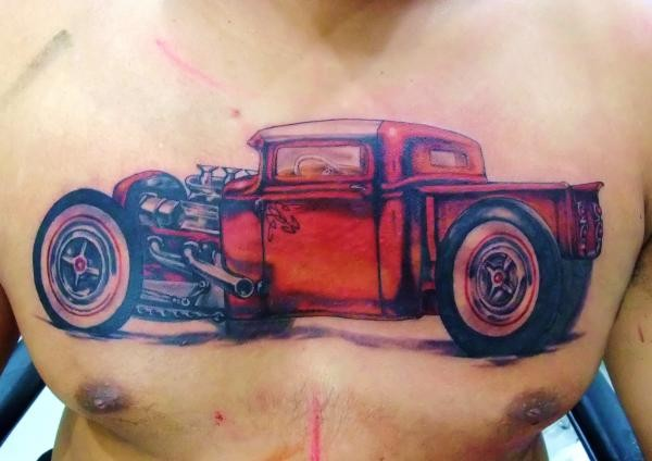 tattoos/ - Old school truck tattoo - 49582