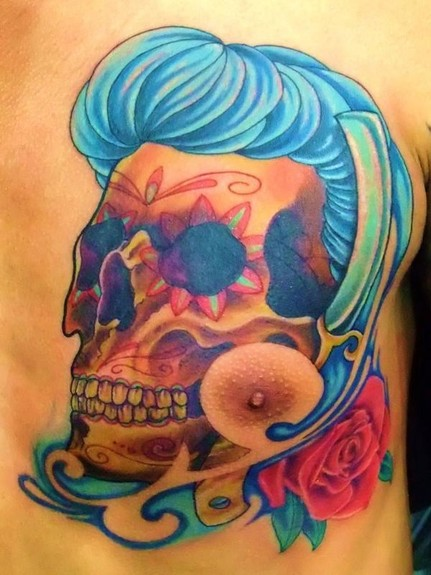 tattoos/ - Rockabilly sugar skull - 49583