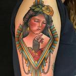 Art Deco Lady Tattoo Design Thumbnail