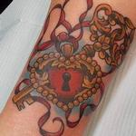 Heart Locket and Key Tattoo  Tattoo Design Thumbnail