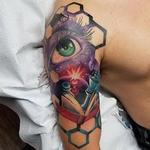 Geometric Eye Tattoo Design Thumbnail