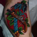 Gun & Hatchet Tattoo Design Thumbnail