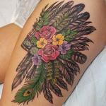 Floral Headdress Tattoo Design Thumbnail