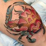 Crab on knee Tattoo Design Thumbnail