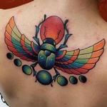 Winged Scarab Tattoo Design Thumbnail