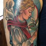 Art Nouveau Boy Tattoo Design Thumbnail