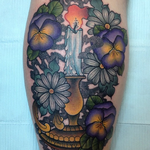 Candle Tattoo Tattoo Design Thumbnail