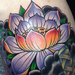 Lotus Shoulder Cap Tattoo Tattoo Design Thumbnail