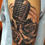 Microphone and Roses Tattoos Tattoo Design Thumbnail