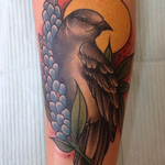 Mockingbird Bluebonnet Tattoo Tattoo Design Thumbnail