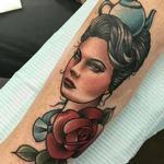 Tea Lady Tattoo Design Thumbnail