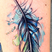 Feather tattoo Done while my Guest spot at Off the Map, MA Tattoo Design Thumbnail