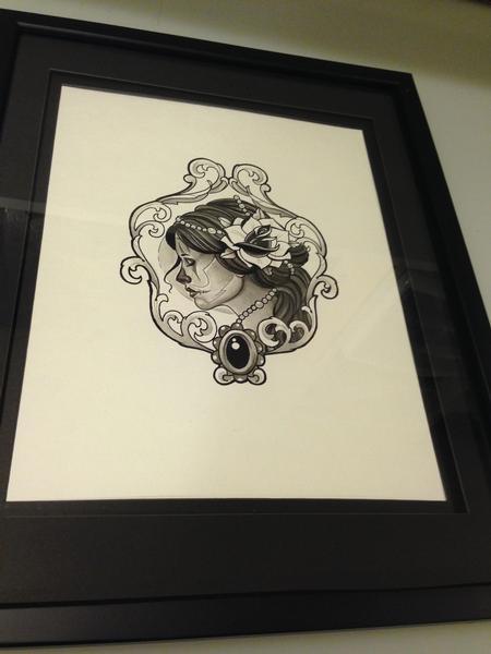 Art Galleries - Lady Head/Rose - 86375