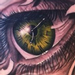 Custom eye and clock Tattoo Design Thumbnail