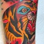 TIGER AND DAGGER Tattoo Design Thumbnail