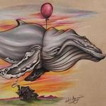 Art Galleries - Floating Whale - 123641