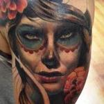 Day of the Dead woman Tattoo Design Thumbnail