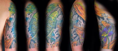 tattoos/ - Koi + Lotus + Waterfalls - 75829