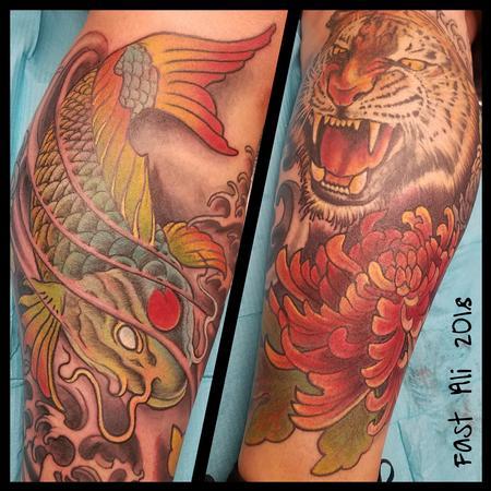 tattoos/ - Ono's Tiger & Koi - 132970
