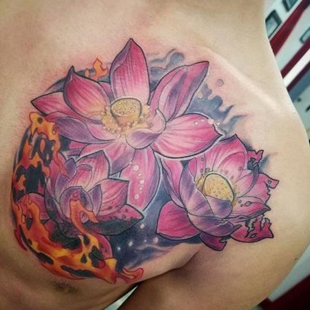 tattoos/ - Lotus flowers and flames - 132179