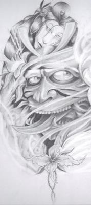 tattoos/ - Hannya Mask Drawing - 60567