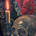 Added Flowers to this Realistic Piece Tattoo Design Thumbnail