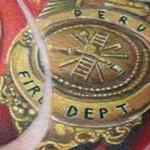Fireman's Badge Tattoo Design Thumbnail