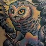 Owl & Mace Tattoo Design Thumbnail