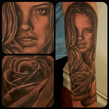 tattoos/ - Woman and rose - 131694