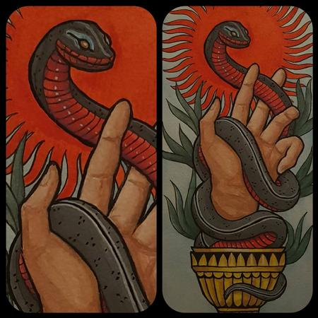 Art Galleries - The snake and chalice - 132634