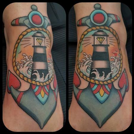 Feminine - Anchor and lighthouse