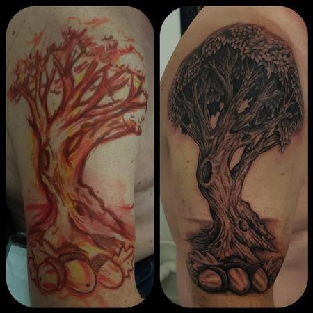 Realistic - Freehand Oak tree