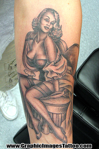 Tattoos - 50's Pin Up