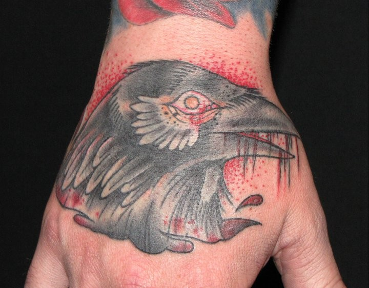 tattoos/ - Crow Hand Tattoo - 52765