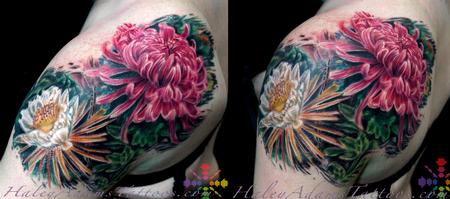 Color - flowers on shoulder and upper arm