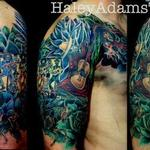 half sleeve of Mexican paintings Tattoo Design Thumbnail