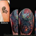 Biomechanical Tattoo. before and after Tattoo Design Thumbnail
