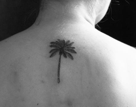 tattoos/ - Small palm tree tattoo on back - 130802