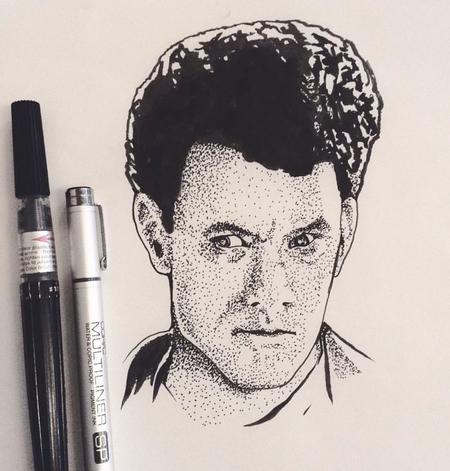Art Galleries - Stippled portrait of Tom Hanks - 126963