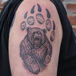 tattoos/ - Bear in bear paw tattoo on shoulder - 132859