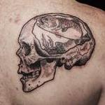 tattoos/ - Skull with rainbow trout tattoo on shoulder - 126964