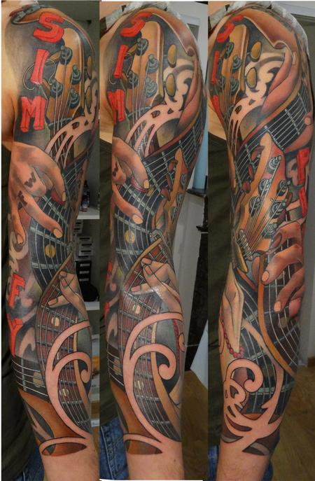 tattoos/ - guitar bass sleeve - 84038