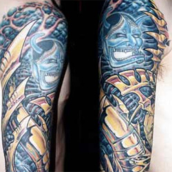 Tattoo-Books - Bio Mech Around Demon Sleeve - 13865