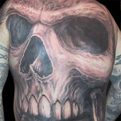Tattoo-Books - Full Back Skull - 13890
