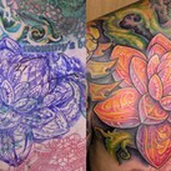 Tattoo-Books - Lotus Cover up - 36594