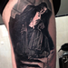 Bela Lugosi realistic black and grey Tattoo Design Thumbnail