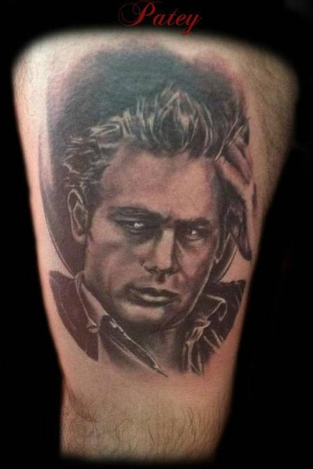 tattoos/ - Black and Grey Portrait Tattoo - 69608