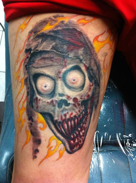 tattoos/ - Bloody Ghoul Color Tattoo - 117560