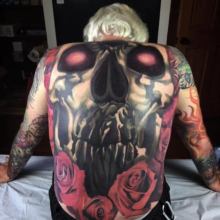 tattoos/ - Skull and Roses Backpiece - 130861
